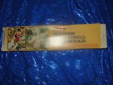 Wooden Oriental Painting Scroll Hanging Wall Décor 1979 new in box