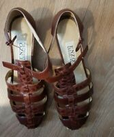 ENZO ANGIOLINI LEATHER SANDALS  TAN BROWN SIZE US 8M, UK 6, EUR 39
