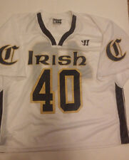 Mens Irish Lacrosse Jersey #40 Large Warrior Authentic