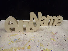 Wooden Words Free Standing Plaques Personalised Names Wedding Home Gift150mmtall