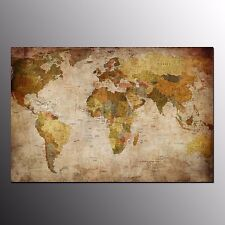 FRAMED Canvas Art Prints Old World Map Wall Art Canvas Painting For Home Office