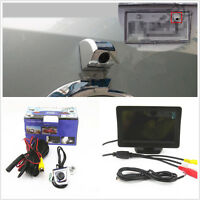 """4.3"""" LCD TFT Color HD Monitor & Car License Plate Frame Screw Reverse Camera Kit"""