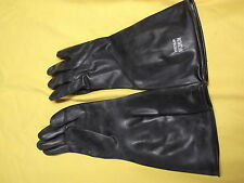 RUBBER GLOVES BLACK 1 PAIR 14 INCHES LONG SIZE MEDIUM IRREGULAR