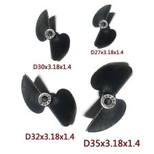 2 Blade Nylon Propeller Prop Set 27 30 32 35mm P1.4 For Electric Nitro RC Boat I