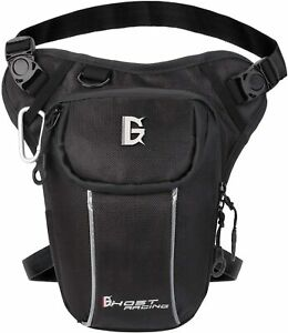 Leg Bag, Black Leg Bag Hip Belt Bum Fanny Pack Waist Drop Bag Outdoor Leg Bag
