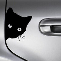 Funny Cat Face Peering Car Decal Window Truck Auto Bumper Laptop Sticker Black F