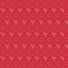 Modern Minis Mason Jars Red, Lori Holt/Bee in Bonnet/Riley Blake, 1/2 yd fabric