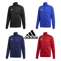 Adidas Core Boys Jackets Zip Training Track Top Jacket Kids Football Jumper