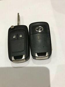 1x Vauxhall Insignia Astra 2 button flip remote key fob GM 13500233