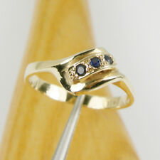 Natural Australian Sapphire Gemstone Dress Ring Genuine 375 9k 9ct Yellow Gold