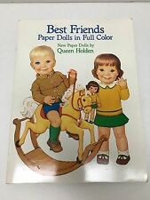Best Friends Paper Dolls Cut Out Book in Full Color Queen Holden 1985 Complete