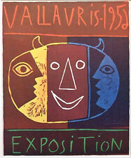 "PABLO PICASSO vintage mounted poster print, Vallauris 1956 16 x 12"" affiche PP16"