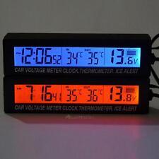 Horloge LCD numérique/sortie moniteur de voiture Auto thermomètre tension Meter