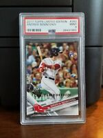 2017 Topps Limited Edition Andrew Benintendi Rookie Card #283 PSA 9 Mint