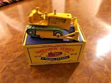 Vintage Matchbox Toy / Caterpillar D8 Bulldozer / Day 1 Beauty / No. 18 Series I