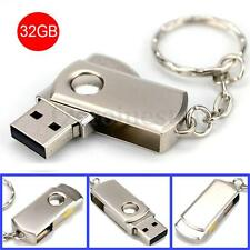 32 GB Swivel Metal USB 2.0 Flash Pendrive Pen Drive Memoria Memory Stick Thumb