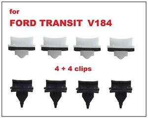 8 x FORD TRANSIT FRONT WINDSCREEN A PILLAR SIDE PLASTIC TRIM CLIPS V184