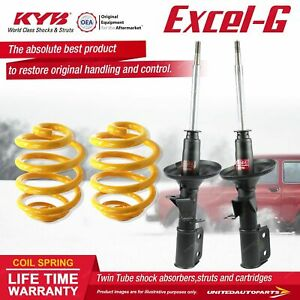 Front KYB EXCEL-G Shock Absorbers Lowered King Springs for HOLDEN Adventra VYII