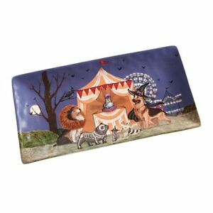 PIER 1 CARNIVAL COLLECTION PARK AVENUE PUPS DOGS HALLOWEEN SERVING PLATTER