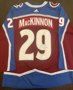 Nathan MacKinnon Colorado Avalanche Autographed Adidas Authentic Hockey Jersey