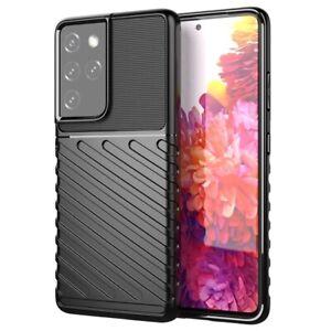 Coque pour Samsung Galaxy S21 Ultra 5G en TPU - Série Thunder - Noire