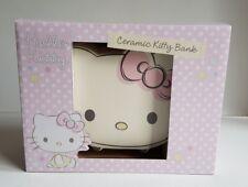 Brand New Boxed Hello Kitty Ceramic Money Bank Box Cute Cat Christening Giftkh