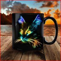 Black Mug Cat Lover - Inspirational Mug - Coffee Mug Tea Cup Gift