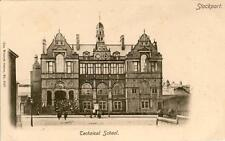 PRINTED POSTCARD OF THE TECHNICAL SCHOOL, STOCKPORT, CHESHIRE BY WRENCH