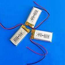 3 PEZZI 3.7 V 400 mAh Li Po Batteria Ricaricabile 502040 per Smart Watch MP3 MP4 GPS