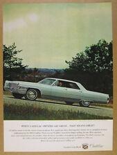 1965 Cadillac Sedan Deville car photo vintage print Ad