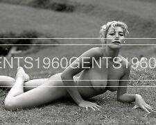 1960s BUSTY BIG BREASTS PINUP NANCY ROBERTS 8X10 PHOTO FROM ORIGINAL GLASS NEG-7
