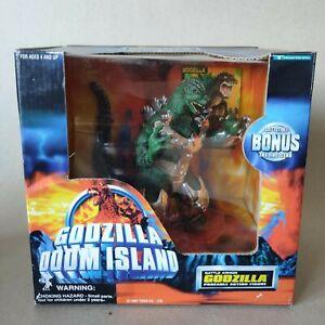 "1997 Trendmasters super rare Godzilla Doom Island ""BATTLE ARMOR GODZILLA"" figure"