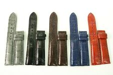 Genuine Crocodile Alligator Skin Leather Watch Band 18mm/24mm