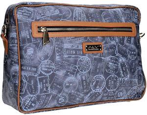 Borsa Tracolla Donna Blu/Cuoio Alv By Alviero Martini Bag Woman Denim/Cuoio