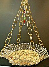 Hanging Bird feeder or fruit bowl- Vintage glassware