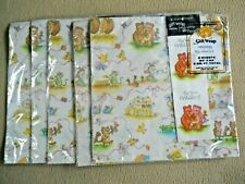 5 Vintage Rust Craft Wedding Gift Wrap / Wrapping Paper/ In Wrapper