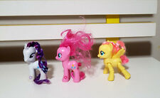 LOT OF 3X MLP MY LITTLE PONY FIGURINES! POSABLE FLUTTERSHY, RARITY & PINKY PIE!