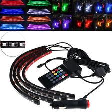 4x18 LED RGB Sound Control Car Interior Atmosphere Light Strip Colorful 12V SUV