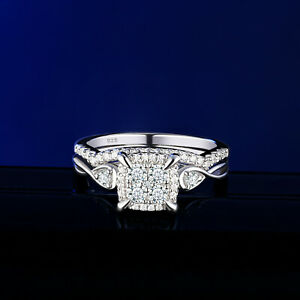 Wedding Engagement Ring Set For Women Round White AAAA Cz 925 Sterling Silver