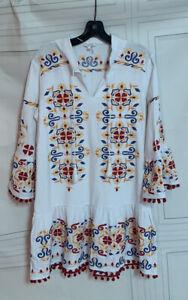 Tyler Boe Embroidered Bohemian Dress Sz M