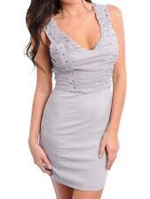 Regular Size Solid Formal Wiggle/Pencil Dresses for Women