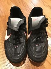 NIKE Girls Youth SOCCER SOFTBALL Cleats Shoes Pink Black Silver Size 6 Youth #