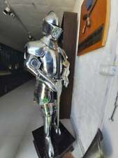 Medieval Silver Knight Plate Armour Suit Battle Warrior Full Body Armour Suit