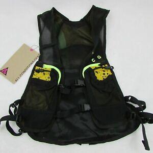 Nike ACG Vest Running Trail Hiking Black & Yellow 129862 Size Small $130