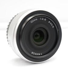 Nikon 1 NIKKOR 10mm f/2.8 Lens White Original For J1 J2 J3 J4 J5 V1 V2 V3 S1 S2