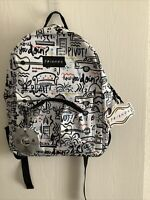 "Friends F.R.I.E.N.D.S Comic Printed 16"" Backpack 90's TV Show Central Perk NWT"