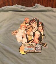 capcom vs snk 2 Mark Of The Millennium 2001 Blue XL 46-48 Tshirt Rare