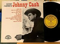 Now Here's Johnny Cash Vinyl LP SUN SLP 1255 1st Pressing Microgroove Hey Porter