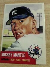 1953 NEW YORK YANKEES MICKEY MANTLE RERINT CARD TOPPS #82