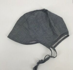Briar Baby Bonnet Lined Chambray Hat 18-24 Months NWT
